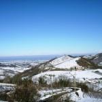 Agriturismo in invenro con la neve