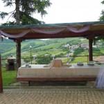 Tavolo esterno per banchetti