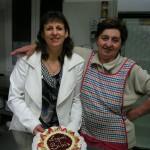 Silva e la cuoca Giuliana